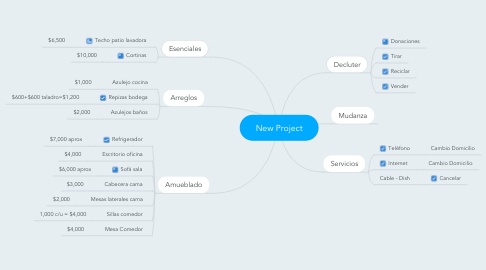 Mind Map: New Project