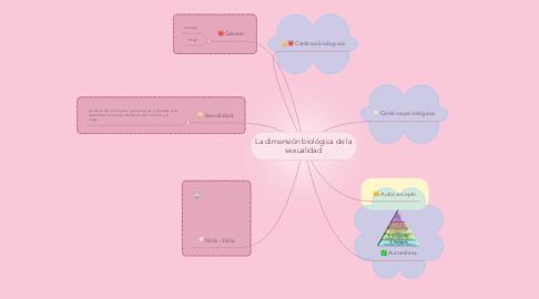 Mind Map: La dimensión biológica de la sexualidad