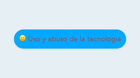 Mind Map: Uso y abuso de la tecnologia