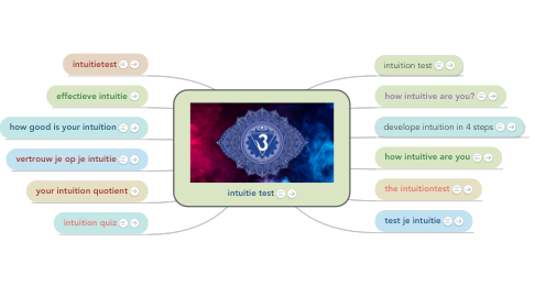 Mind Map: intuitie test