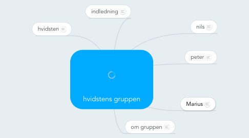 Mind Map: hvidstens gruppen