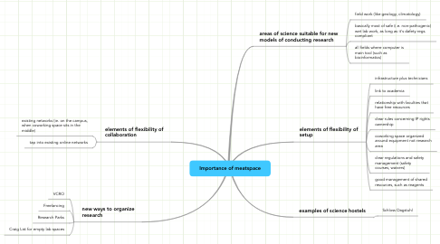 Mind Map: Importance of meatspace