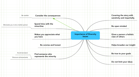 Mind Map: Importance of Diversity Issues