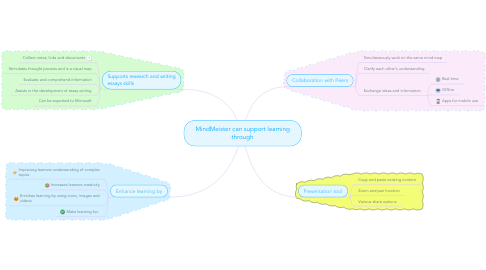 Mind Map: MindMeister can support learning through