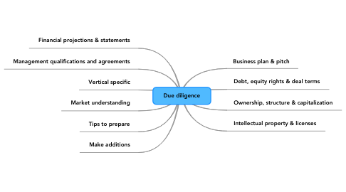 Mind Map: Due diligence
