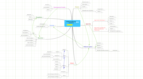 Mind Map: Gestion durable des