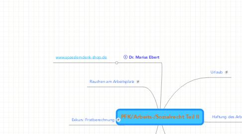 Mind Map: PFK/Arbeits-/Sozialrecht Teil II