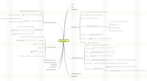 Mind Map: Insurance Basics