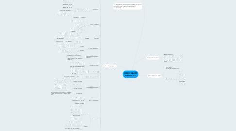 Mind Map: COMO HACER PROYECTOS