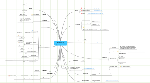 Mind Map: Exemples de projets innovants