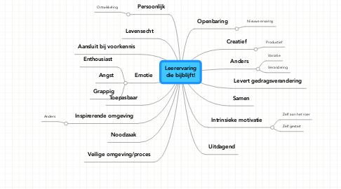 Mind Map: Leerervaring die bijblijft!
