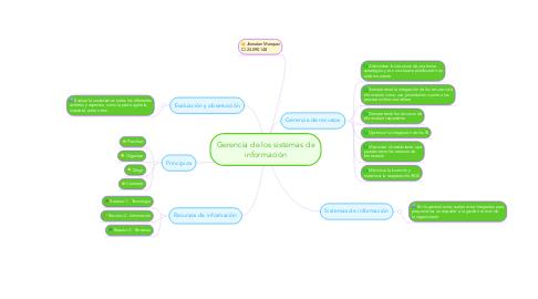 Mind Map: Gerencia de los sistemas de información