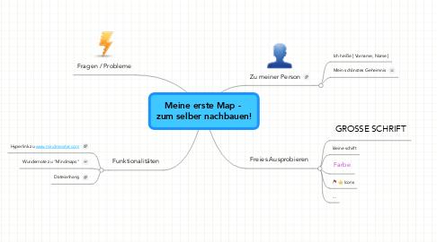 Mind Map: Meine erste Map -  zum selber nachbauen!