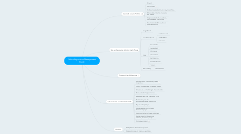 Mind Map: Online Reputation Management Guide