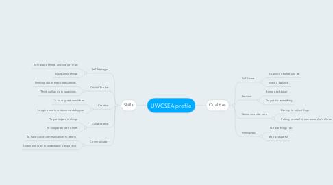 Mind Map: UWCSEA profile