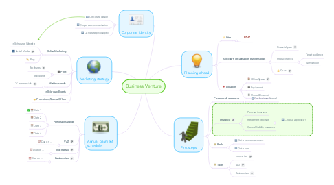 Mind Map: Business Venture