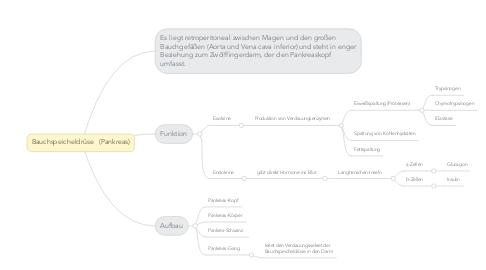 Mind Map: Bauchspeicheldrüse   (Pankreas)