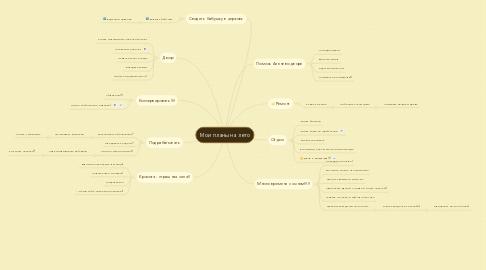Mind Map: Мои планы на лето