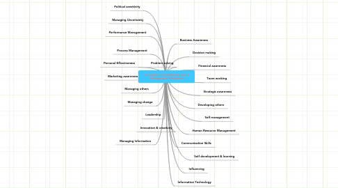 Mind Map: Competence Models Business & Management Education