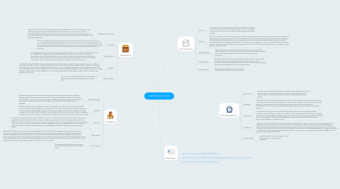 Mind Map: Administrator Tools
