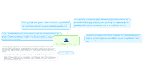 Mind Map: Concept Mapping in Final Project