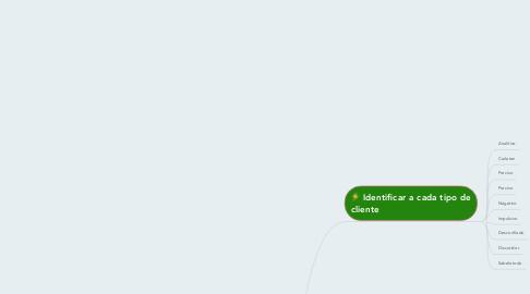 Mind Map: Tipos de clientes en la actividad  comercial