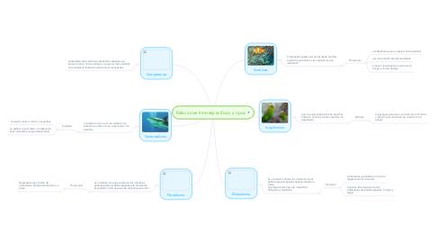 Mind Map: Relaciones Interespecíficas y tipos