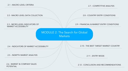 Mind Map: MODULE 2: The Search for Global Markets