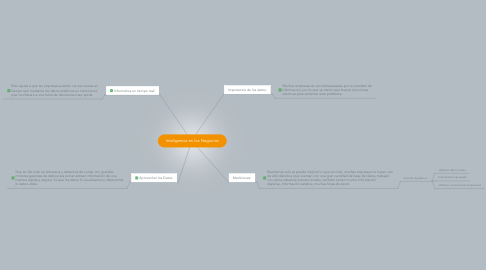 Mind Map: Inteligencia en los Negocios