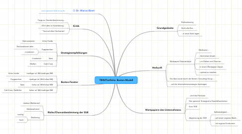 Mind Map: TBW/Portfolio: Boston-Modell
