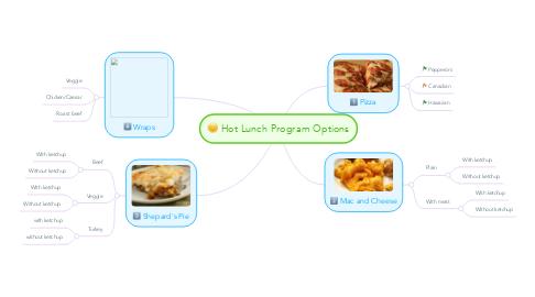 Mind Map: Hot Lunch Program Options