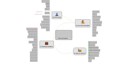 Mind Map: Piano Formazione