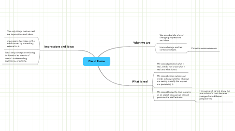 Mind Map: David Hume