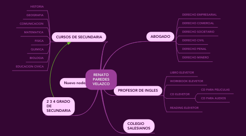 Mind Map: RENATO PAREDES VELAZCO