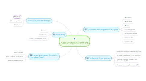Mind Map: Accounting Environment