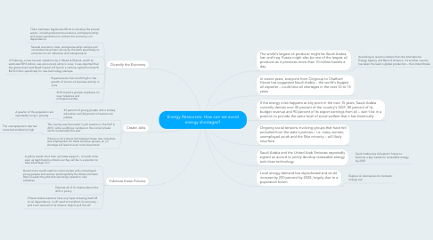 Mind Map: Energy Resources: How can we avoid energy shortages?