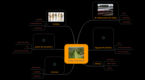 Mind Map: salida a Pto Nariño