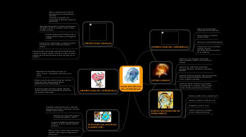 Mind Map: BASES BIOLÓGICAS DEL APRENDIZAJE.