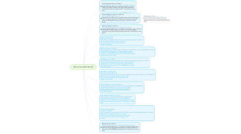 Mind Map: TRIPLE-E MACHINERY MOVING