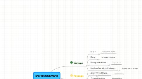 Mind Map: ENVIRONNEMENT