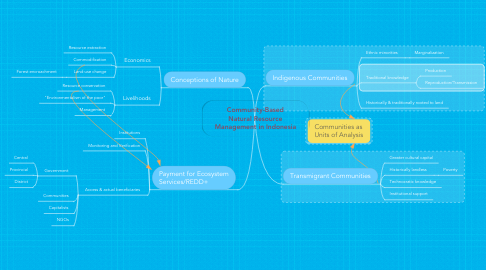 Mind Map: Community-Based Natural Resource Management in Indonesia
