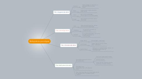 Mind Map: Skolepraksis-grundtyper