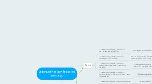 Mind Map: Alteraciones genéticas en animales.