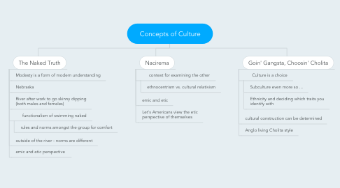 Mind Map: Concepts of Culture