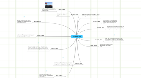 Mind Map: Spring Break 2010