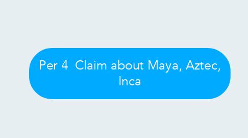 Mind Map: Per 4  Claim about Maya, Aztec, Inca