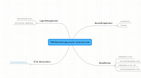 Mind Map: TBW/Beschaffungskontrolle: Kostenkontrolle