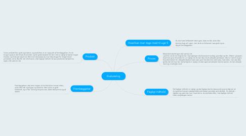 Mind Map: Evalurering