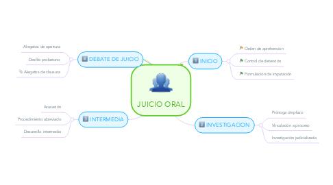 Mind Map: JUICIO ORAL