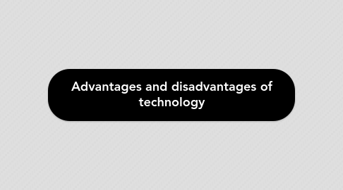 Mind Map: Advantages and disadvantages of technology
